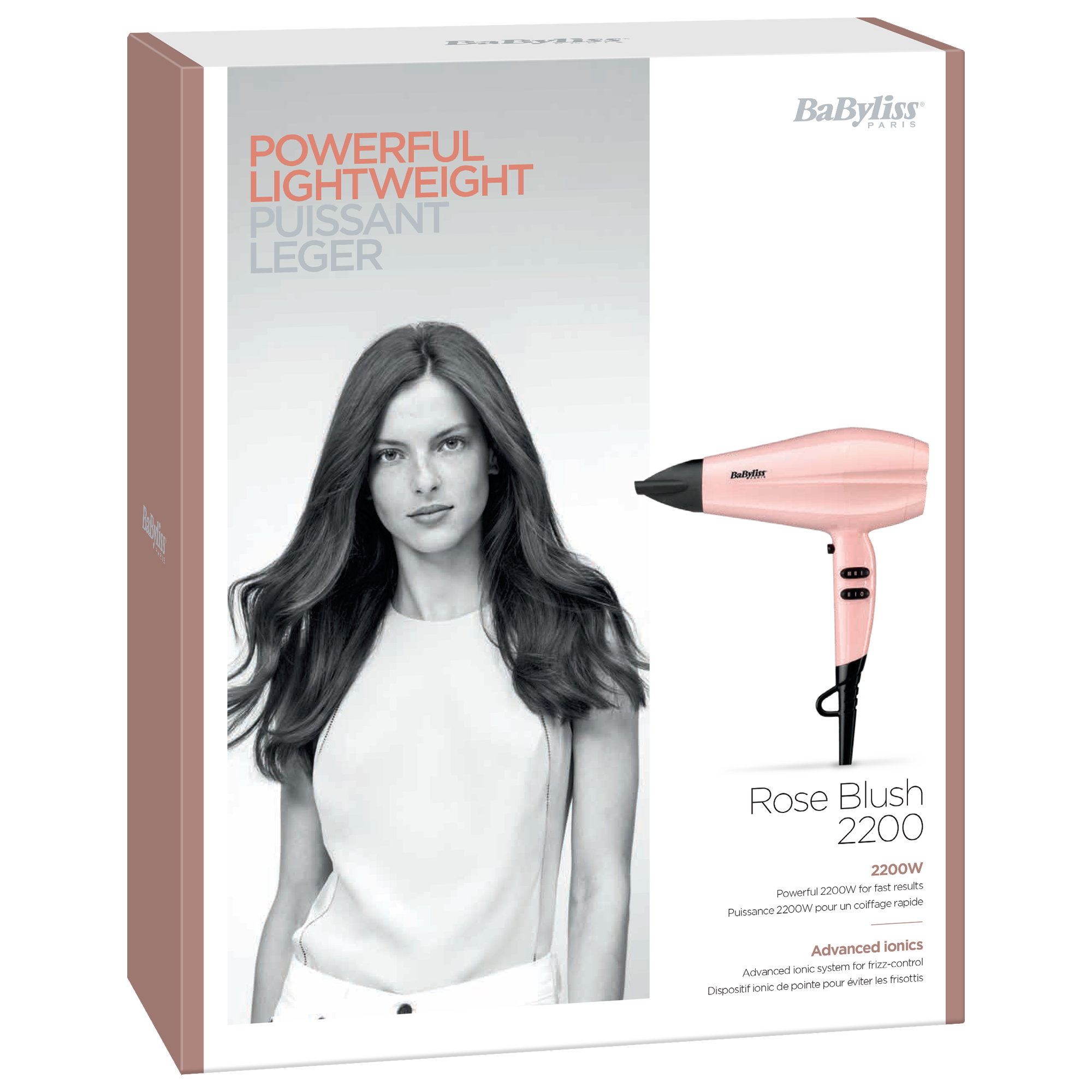 BaByliss Secador Rose Blush 2200